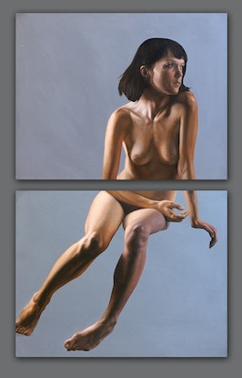 (CreativeWork) A Sinistra (diptych) by Daevid Anderson. Oil Paint. Shop online at Bluethumb.
