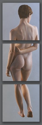 (CreativeWork) Anna In Thirds (triptych) by Daevid Anderson. Oil. Shop online at Bluethumb.