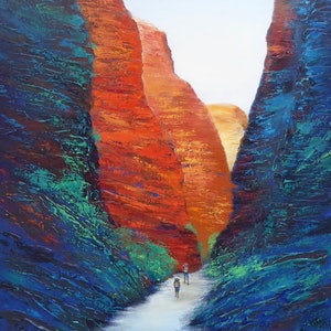 (CreativeWork) Through the Bungle Bungles by Clare Riddington Jones. arcylic-painting. Shop online at Bluethumb.