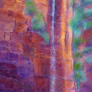 (CreativeWork) Kimberley Gorge by Clare Riddington Jones. arcylic-painting. Shop online at Bluethumb.