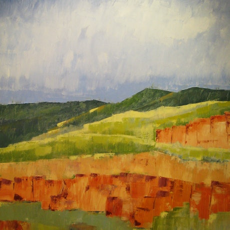 (CreativeWork) Arkaroola in wet by Andrew BARR. Oil Paint. Shop online at Bluethumb.