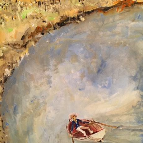 (CreativeWork) Approaching Yerrool by Rodney Cassidy. Acrylic Paint. Shop online at Bluethumb.