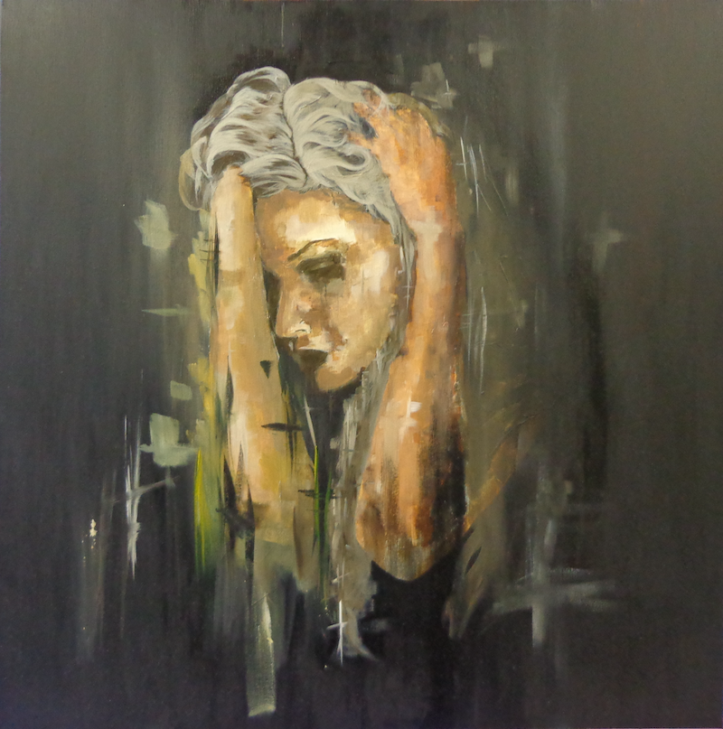 (CreativeWork) Quiet Contemplation by Simon McCullough. arcylic-painting. Shop online at Bluethumb.