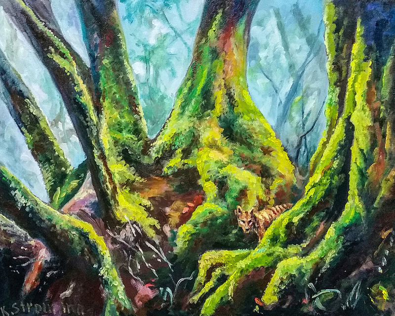 (CreativeWork) Checking the Territory by Katia Strounina. Oil Paint. Shop online at Bluethumb.