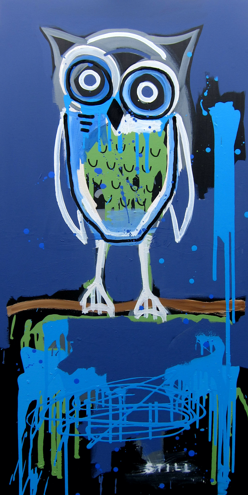 (CreativeWork) Watcher by Cameron Holmes. mixed-media. Shop online at Bluethumb.