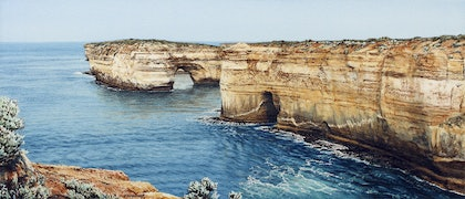 (CreativeWork) Loch Ard Gorge by Francis McMahon. watercolour. Shop online at Bluethumb.