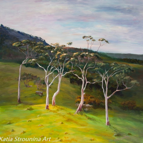 (CreativeWork) Treedance by Katia Strounina. Acrylic Paint. Shop online at Bluethumb.