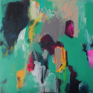 (CreativeWork) Intuitive Abstract #289 by Emma Ball. arcylic-painting. Shop online at Bluethumb.