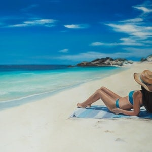 (CreativeWork) Perfect Solitude by Mia Laing. oil-painting. Shop online at Bluethumb.