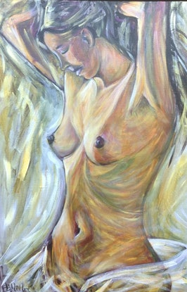 (CreativeWork) Femme by Bev Miller. Acrylic Paint. Shop online at Bluethumb.