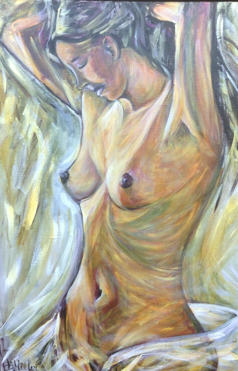 (CreativeWork) Femme by Bev Miller. arcylic-painting. Shop online at Bluethumb.
