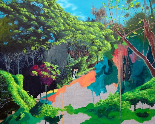 (CreativeWork) Sirius Cove Reserve by Kim Leutwyler. Oil Paint. Shop online at Bluethumb.