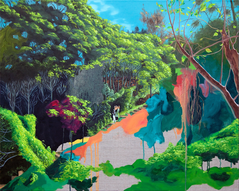 (CreativeWork) Sirius Cove Reserve by Kim Leutwyler. oil-painting. Shop online at Bluethumb.