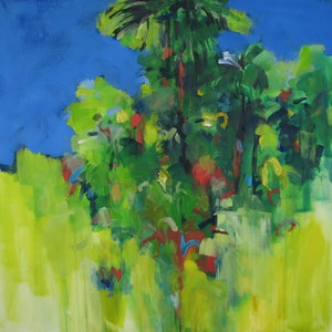 (CreativeWork) Big Scrub-nearly gone by Susan Lhamo. arcylic-painting. Shop online at Bluethumb.