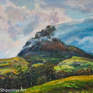 (CreativeWork) Mount Lindesay by Ekaterina Strounina. arcylic-painting. Shop online at Bluethumb.