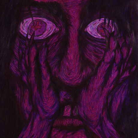 (CreativeWork) In Depression's Monsterous Grip by Jolon Larter. Acrylic Paint. Shop online at Bluethumb.