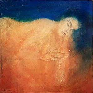 (CreativeWork) Creative Sleep - Asher Bowen-Saunders by Billy Shannon. arcylic-painting. Shop online at Bluethumb.