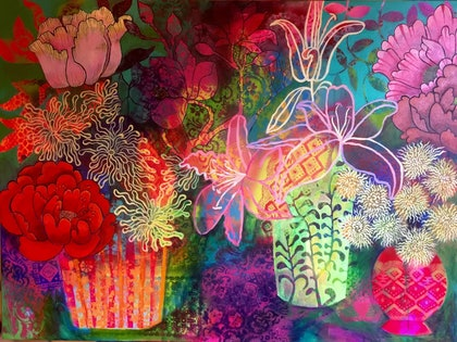 (CreativeWork) Floralalia  by Darielle Bydegrees. print. Shop online at Bluethumb.