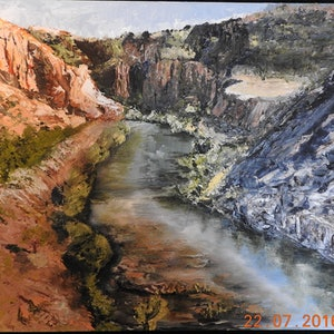 (CreativeWork) EL QUESTRO  SCENE ,NORTH WEST WESTERN AUSTRALIA by GLENN SPECK. oil-painting. Shop online at Bluethumb.