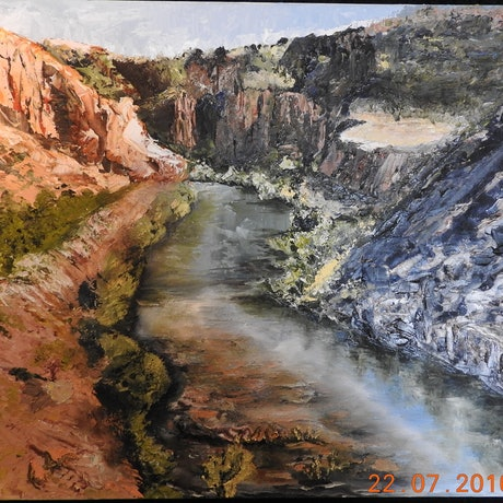 (CreativeWork) EL QUESTRO  SCENE ,NORTH WEST WESTERN AUSTRALIA by GLENN SPECK. Oil Paint. Shop online at Bluethumb.