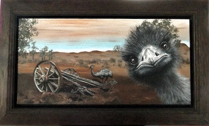 (CreativeWork) Painting Bomber by Lee Porter. arcylic-painting. Shop online at Bluethumb.