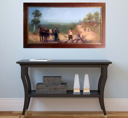 (CreativeWork) 1930 State's Money at Work -  by Marie Green. Oil Paint. Shop online at Bluethumb.