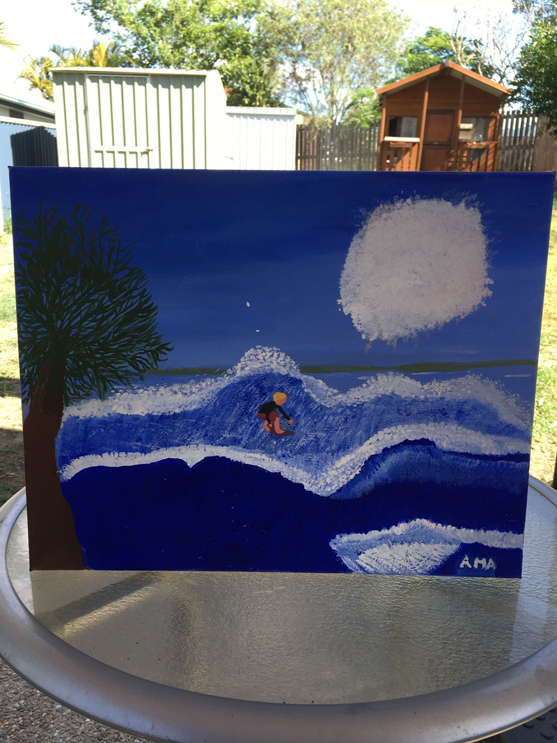 (CreativeWork) A surfers paradise by Amanda Singh. arcylic-painting. Shop online at Bluethumb.