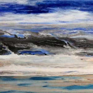 (CreativeWork) Where Waters Meet by Deb Brown. acrylic-painting. Shop online at Bluethumb.