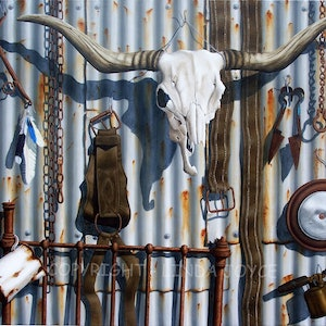 (CreativeWork) Outback Still Life #3 by Linda Joyce. arcylic-painting. Shop online at Bluethumb.