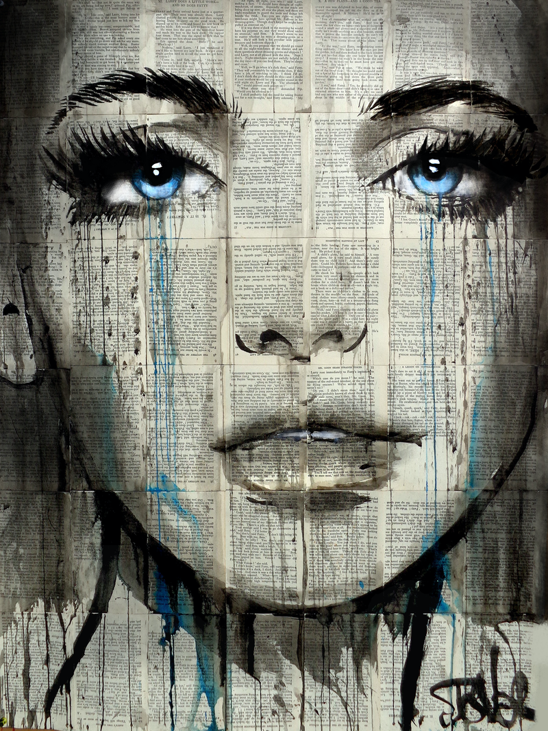(CreativeWork) BLUE INSTINCT by loui jover. drawing. Shop online at Bluethumb.