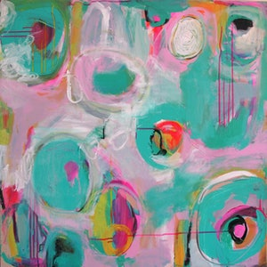 (CreativeWork) Spring  Abstract #302 by Emma Ball. arcylic-painting. Shop online at Bluethumb.