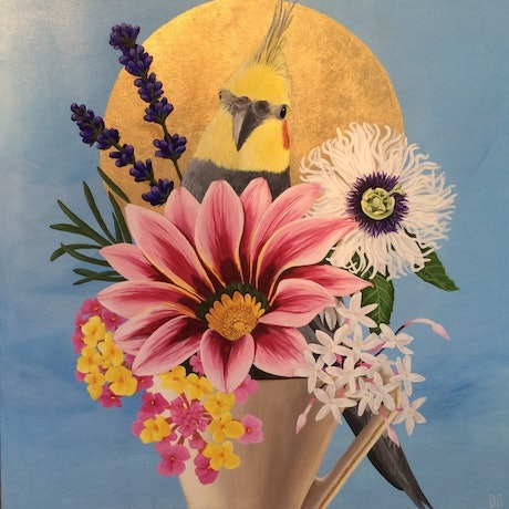 (CreativeWork) Posy Perch by Donna Gordge. Mixed Media. Shop online at Bluethumb.