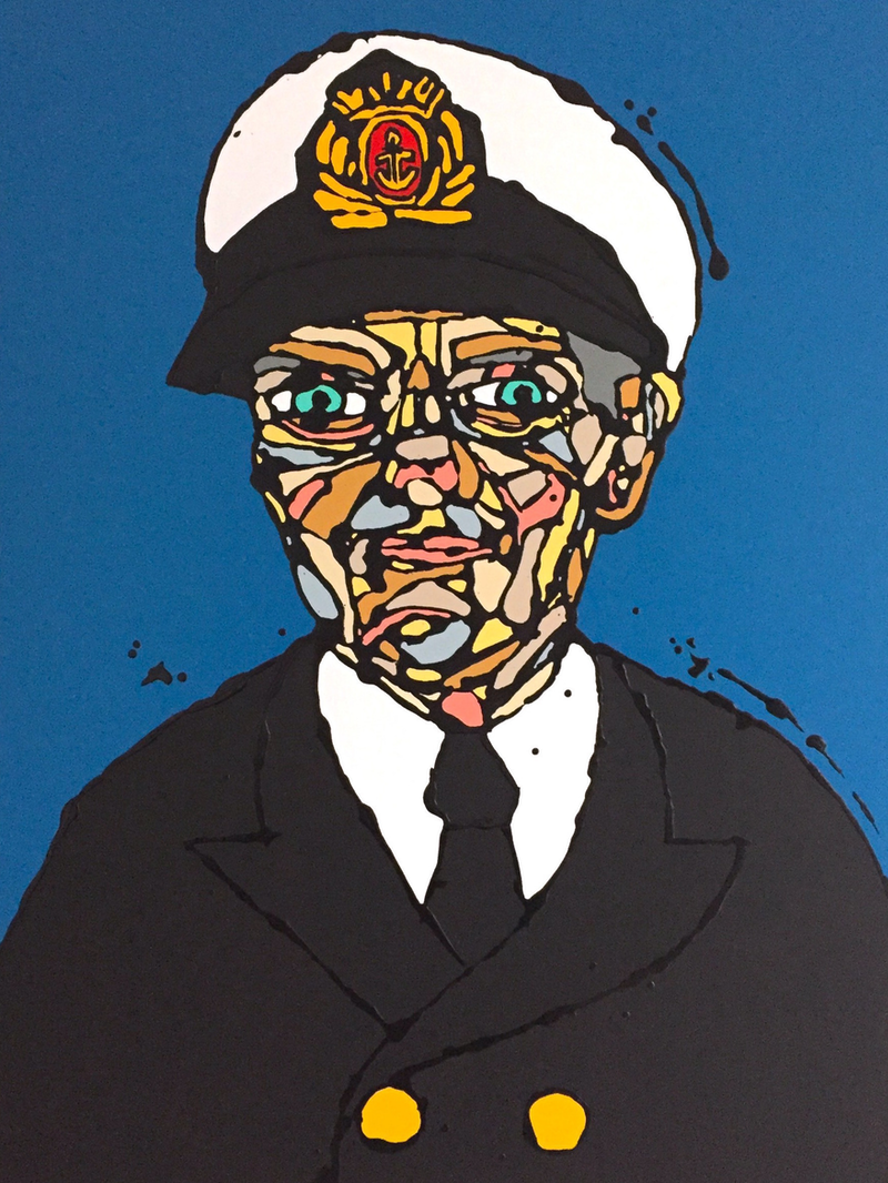 (CreativeWork) Once a Sailor, always a Sailor by Jonathan Redmayne. acrylic-painting. Shop online at Bluethumb.