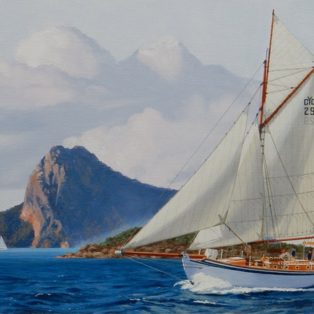 The Kathleen Gillett sails the Whitsundays