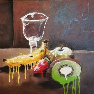 (CreativeWork) Dope Fruit by Sam Patterson-Smith. mixed-media. Shop online at Bluethumb.