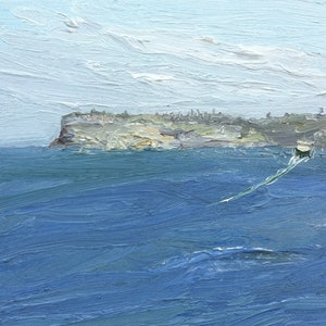 (CreativeWork) Leaving Manly - Plein Air by David K Wiggs. oil-painting. Shop online at Bluethumb.
