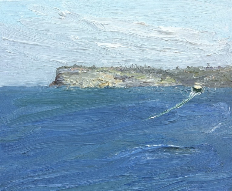 (CreativeWork) Leaving Manly - Plein Air by David K Wiggs. #<Filter:0x00007fef390dc4d0>. Shop online at Bluethumb.