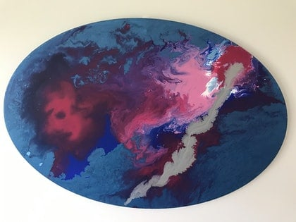 (CreativeWork) Cyclone by Vanessa Dezittere. arcylic-painting. Shop online at Bluethumb.