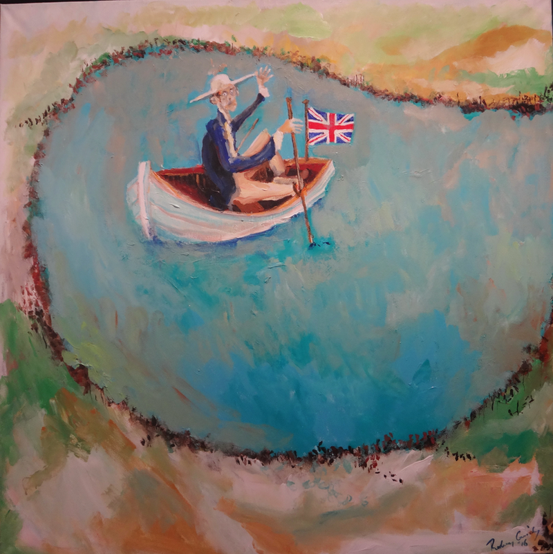 (CreativeWork) He's got the Jack by Rodney Cassidy. arcylic-painting. Shop online at Bluethumb.