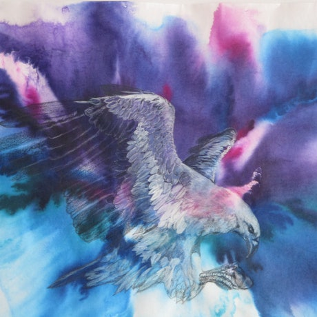 (CreativeWork) Winged Beauty by Marty Foster. Mixed Media. Shop online at Bluethumb.
