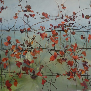 (CreativeWork) Autumn vines by Tom O'Callaghan. oil-painting. Shop online at Bluethumb.