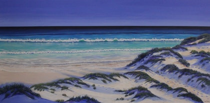 (CreativeWork) Summer Swell  by Ann Steer. arcylic-painting. Shop online at Bluethumb.