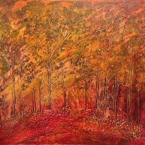 (CreativeWork) Forest by Carol Zsolt. arcylic-painting. Shop online at Bluethumb.