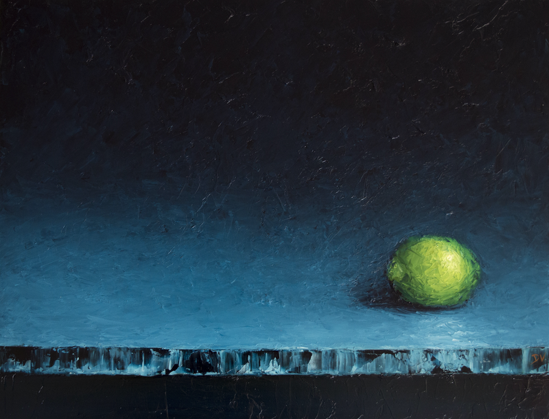 (CreativeWork) Emerge #6 - Lime by Damien Venditti. oil-painting. Shop online at Bluethumb.