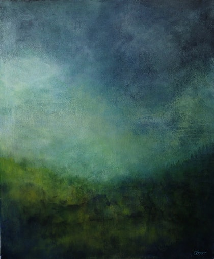 (CreativeWork) Luminescence by Christine Scurr. arcylic-painting. Shop online at Bluethumb.