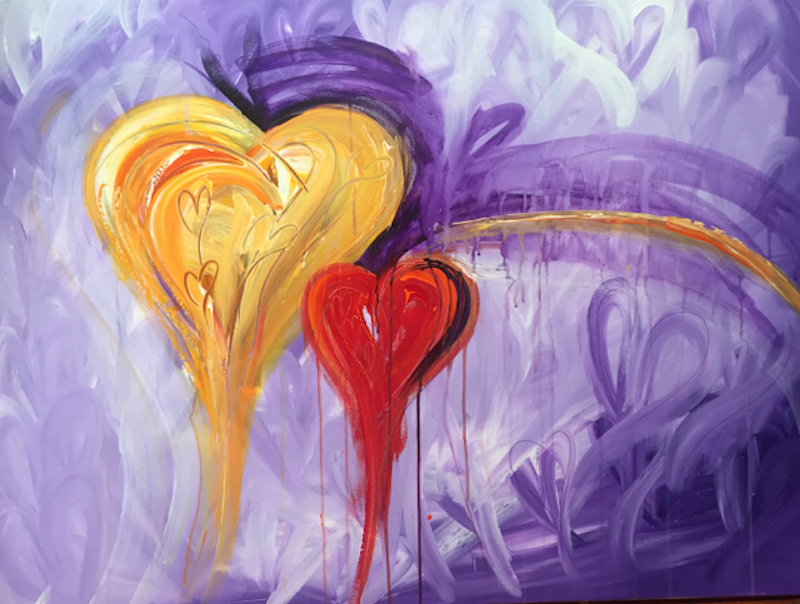 (CreativeWork) Hearts in Motion by Samantha Tipler. arcylic-painting. Shop online at Bluethumb.