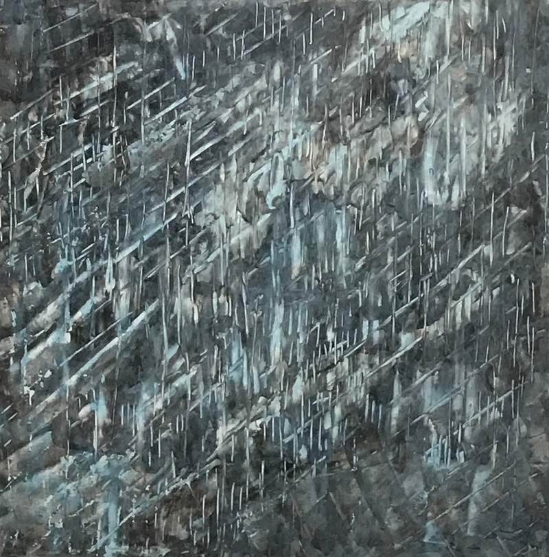 (CreativeWork) Industrial Blue by Carol Zsolt. arcylic-painting. Shop online at Bluethumb.