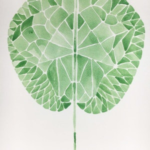 (CreativeWork) Lotus's leaf by iki Ku. arcylic-painting. Shop online at Bluethumb.