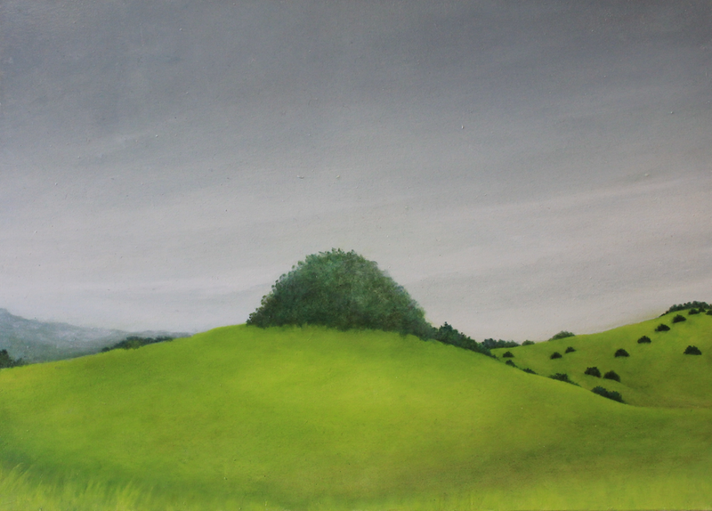 (CreativeWork) Ampitheatre-Lone Tree by Julie-anne Armstrong-Roper. oil-painting. Shop online at Bluethumb.