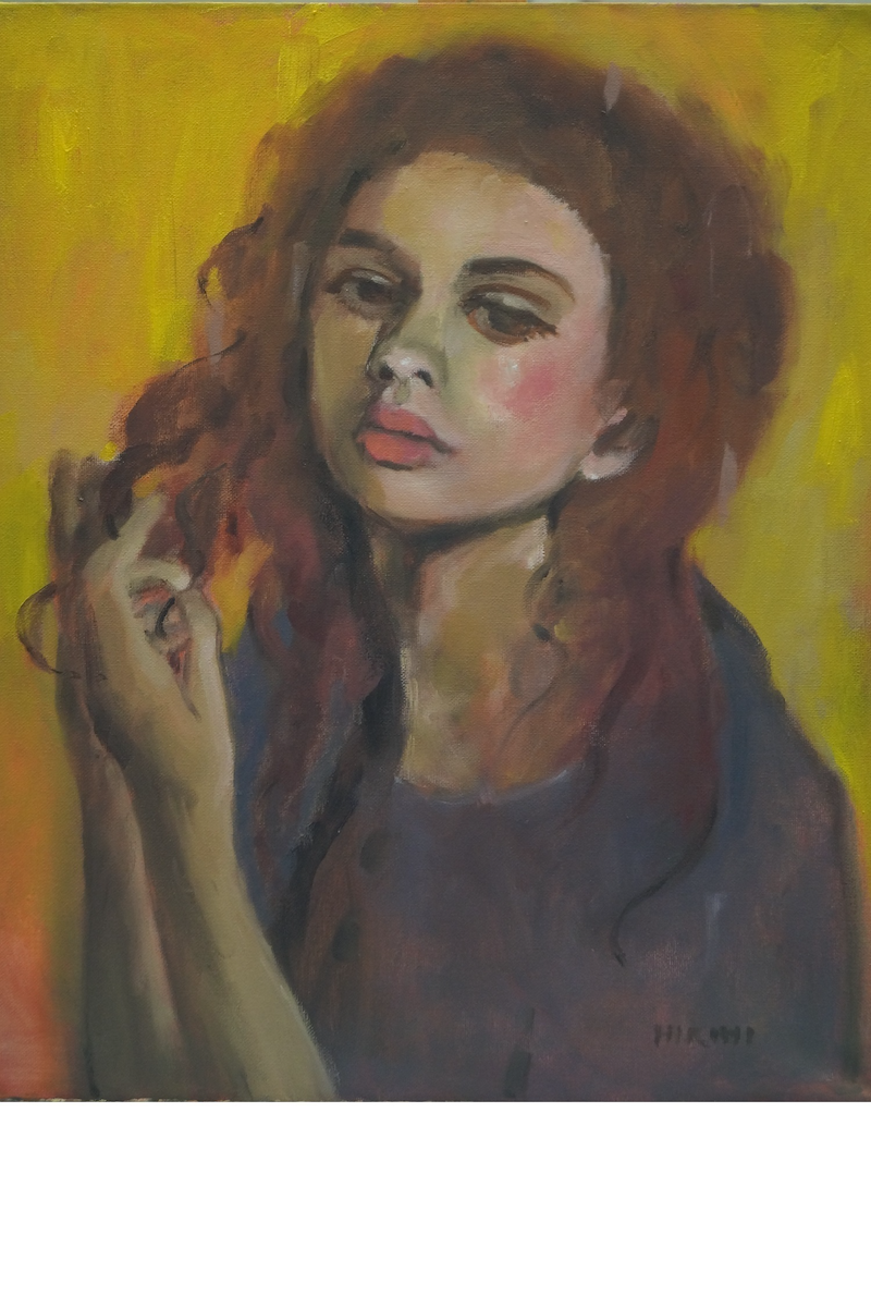 (CreativeWork) OUTSIDE MYSELF by Hiromi Andrew. oil-painting. Shop online at Bluethumb.